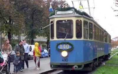 Die Münchner Tram feirete 140. Geburtstag.