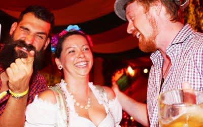 Spaß auf einer After-Wiesn-Party in München