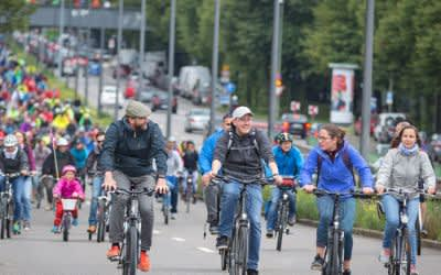 Radfahrer auf der Ringparade