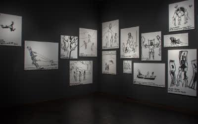 Ausstellung von Eran Shakine