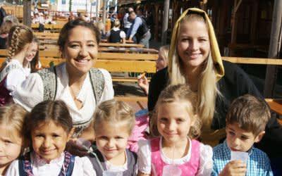 Das Münchner Kindl auf der Oidn Wiesn