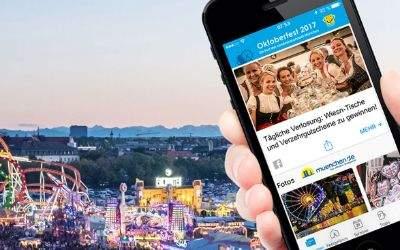 Oktoberfest Panorama mit Wiesn-App