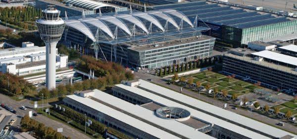 Der Flughafen in München.