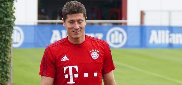 Robert Lewandowski im Training des FC Bayern