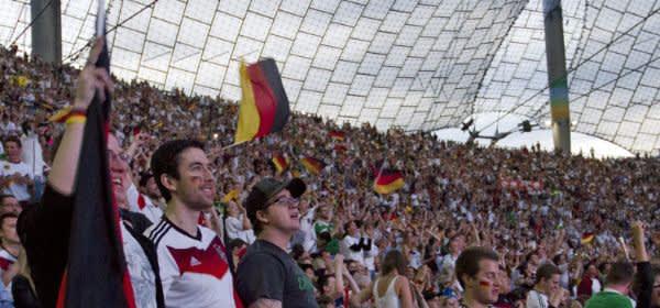 Public Viewing im Olympiastadion