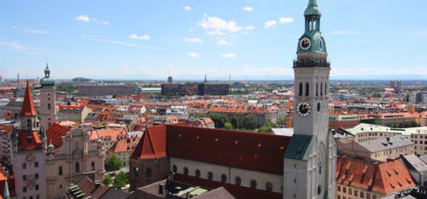 Der Alte Peter in München gehört zu den beliebten Sehenswürdigkeiten.