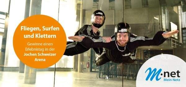 Jochen Schweizer Erlebnisse gewinnen mit M-net