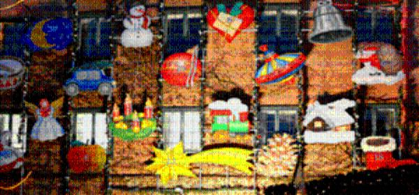 Adventskalendar auf dem Dachauer Christkindlmarkt