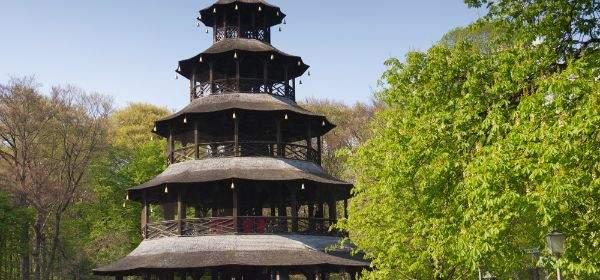 Frühling am Chinesischen Turm im Englischen Garten