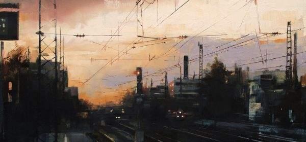 Lukas Frese Artmuc 2017 - Station at Nightfall Oel auf Holz