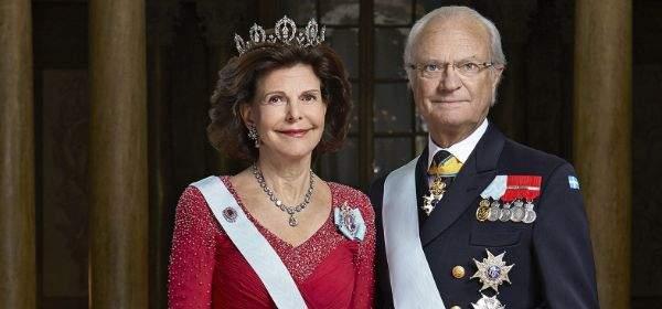 Das schwedische Königspaar Königin Silvia und König Carl XVI. Gustaf von Schweden