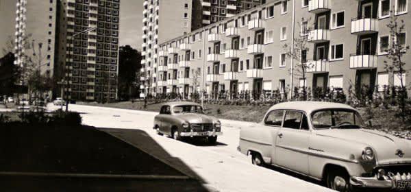 Parkstadt Bogenhausen, Matthä Schmölz, Helmut von Werz und Johann Christoph Ottow, Hans Knapp-Schachleitner, Johannes Ludwig und Franz Ruf (Gesamtplanung), 1954-1956