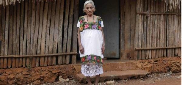 Eine der letzten lebenden Maya