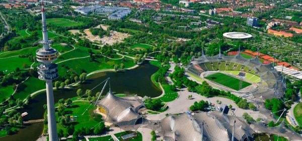 Luftbild vom Olympiapark