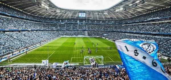 Löwen-Fans in der Allianz Arena