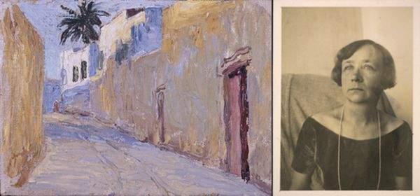 Gabriele Münter und eins ihrer Werke